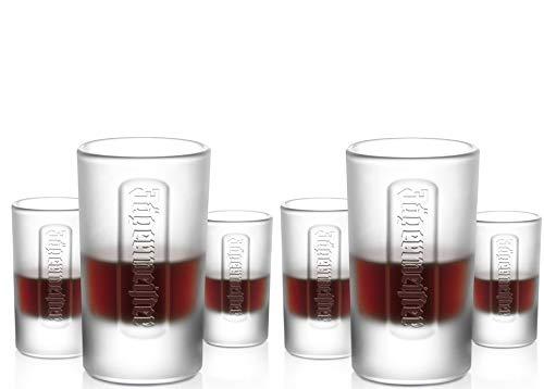 6 original Jägermeister FROZEN Club Shotgläser 0.04l Shot Glas
