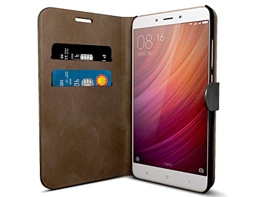 free shipping 5fef2 e7153 MTT Premium Leather Flip Wallet Back Case Cover with Card Slot for Xiaomi  Redmi Note 4 - 2017