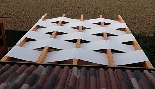 Tuttopergole copertura con fasce in pvc pieno adatte per strutture in legno (cm 330 x cm 50, bianco)