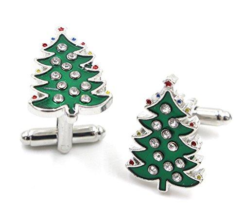 Weimay Crystal Christmas Tree Gemelos Regalo para Bodas Aniversarios Cumpleaños Navidad (Verde, 2.5 * 1.5cm, 2 piezas)