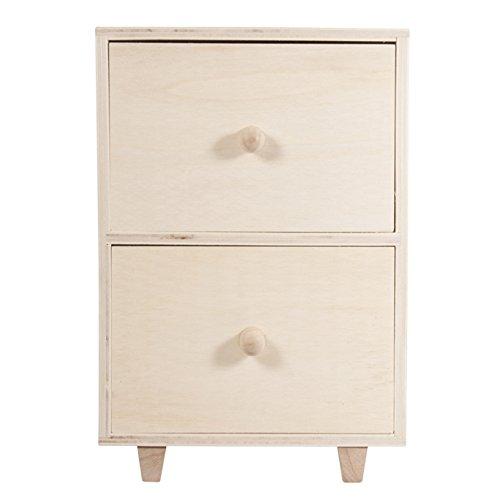 Rayher Holz-Kommode auf Füße, Diverse, 1.65 x 0.93 x 2.45 cm -