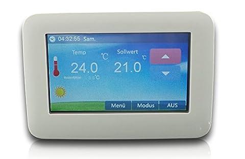 SM-PC®, Raumthermostat Thermostat programmierbar Touchscreen LED Farb-Display #901