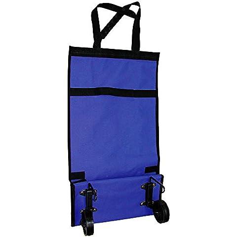 MSV MS239 - Carrito De Compras Plegable Pequeño, color azul, 94.5 x 49 x 60 cm
