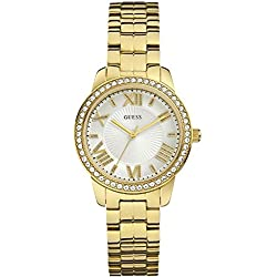 Guess MINI ALLURE W0444L2 Gold Plated Stainless Steel Case Gold Plated Stainless Steel Mineral Women's Watch