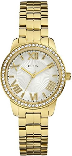 GUESS MINI ALLURE W0444L2 LADIES GOLD PLATED STAINLESS STEEL QUARTZ WATCH