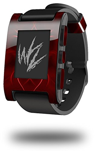 Abstract 01 Red - Decal Style Skin fits original Pebble Smart Watch (WATCH SOLD SEPARATELY)