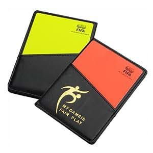 Porte-monnaie Nouveau Arbitre de football avec la carte-Rouge et du Carton jaune