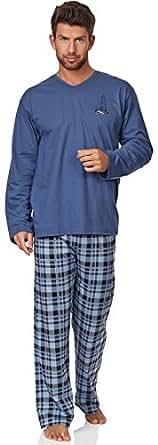 Cornette Ensemble Pyjama Homme CR-124-Sail (Bleu, XXL)