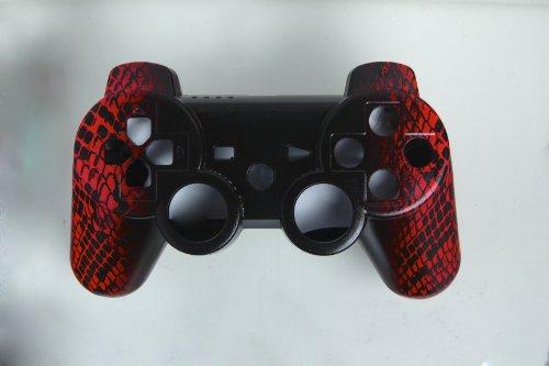 Controller Skin-rosa Ps3 (Sony PS3 Controller Gehäuse im Neon Roten Schlangen Design, Custom Tuning Controller, Shell, Mod Case)