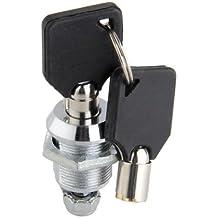 VivReal® Cerradura de Buzón Cajon Caja Pata recta de aleación de aluminio Con 2 llaves 20x18mm Gris