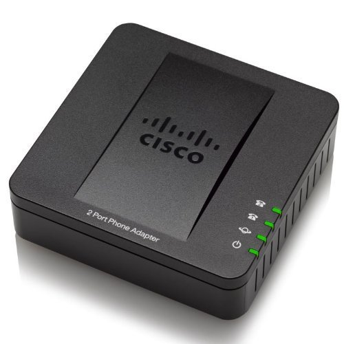 Cisco SPA112 2-Port Phone Adapter - VoIP Telephone Adapters (IPv4, IPv6, ARP, DNS, SRV, DHCP, PPPoE, ICMP, TCP, UDP, RTP, RTCP, SNTP, 802.1p, SSL/TLS, SIP, AC, 100 - 240 V, 50 - 60 Hz, DC, 5 V, 2 A, 101 x 28 x 101 mm)