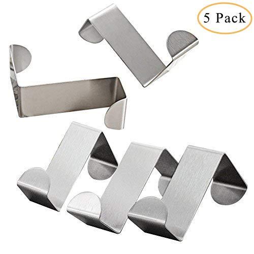 Edelstahl-select Türen (hamosky über Tür Haken Kleiderhaken Rack Heavy Duty reversibel gebürstet Edelstahl 6Stück 3x4.5cmx6cm)