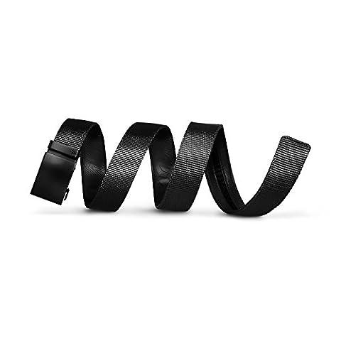 Mission Belt Men's Ratchet Belt - Stealth - Swat Black Buckle / Black Nylon Strap, Small (28 - 32)