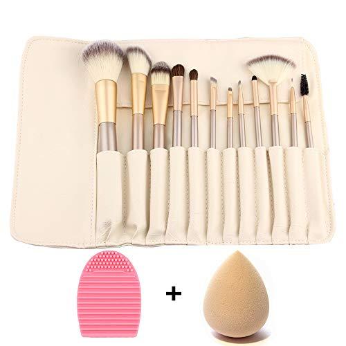 ZOCONE Pennelli per il Make up Professionali 12PCS Trucco Pennelli Kit Pennelli Make Up e 1 PCS Spugnetta Trucco e 1 PCS Uovo Di Lavaggio