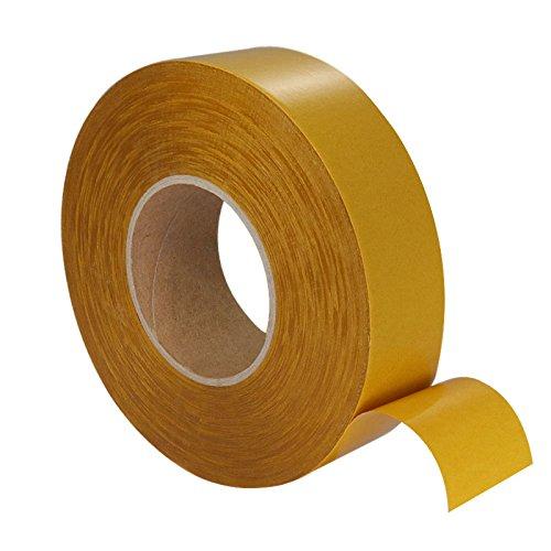 Klebeshop24 DOPPELSEITIGES KLEBEBAND | Transparent | Extra dünn | Stark haftend | 50 mm x 100 m | Reißbar mit der Hand | Für viele Materialien geeignet