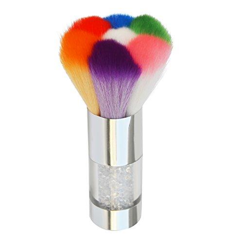 Praktischer, farbenfroher Staubpinsel-Entferner für Acryl- und UV-Nagelgel, Puder, Strasssteine, Make-up-Pinsel - Acryl Pinsel-reiniger