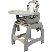 3en 1Chaise haute bébé Chaise haute pour bébé Infant Care convertible Siège enfant Gris
