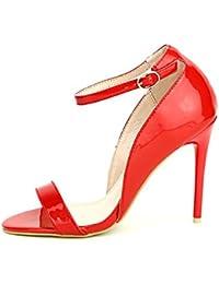 Cendriyon, Zapato Charol Rojo Weide – Zapatos Mujer