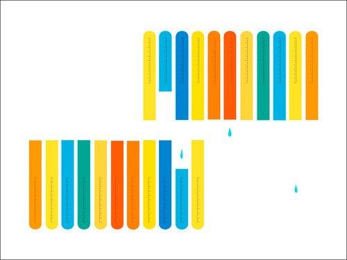 Oopsy Daisy Leinwand, Test Tubes von halfpence Design, 24von 18