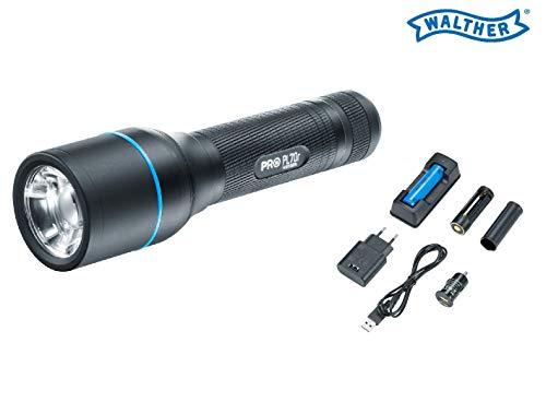 WALTHER PRO Taschenlampe PL70r LED 910 Lumen inklusive Akku+USB-Kabel