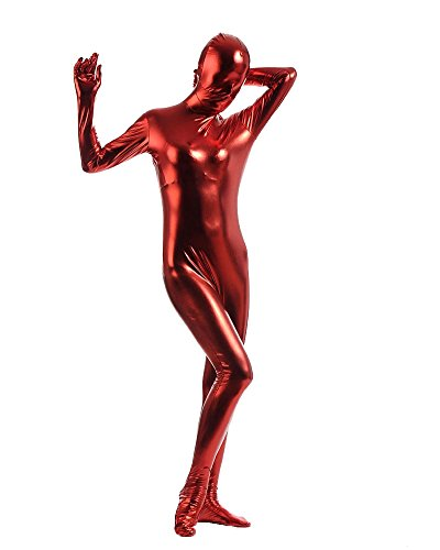 Ganzkörperanzug Kostüm Ganzkörper Anzug Suit Halloween Kostüm Rot (Einfach Kostüme Ein Film)