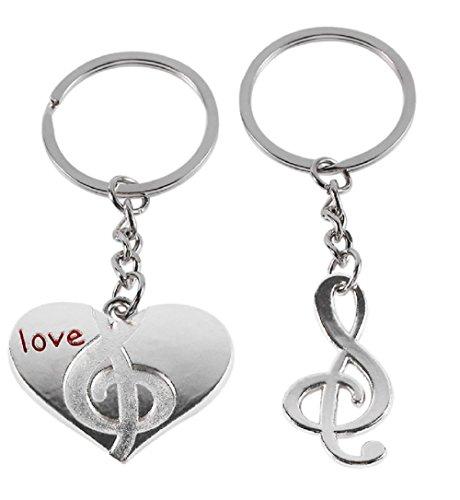 rzförmigen Schlüsselanhänger und Musik Hinweis Liebe Idee Geschenk Mann Unisex Frau