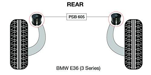 PSB polyuréthane Bush E46 série 3 bras longitudinal arrière gommes - Psb605