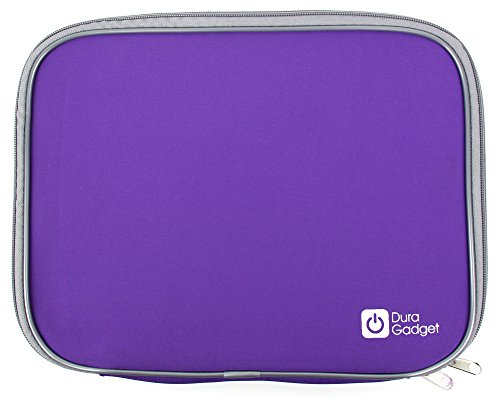 DURAGADGET Purple Lightweight & Shock-Absorbing Neoprene Sleeve/Case - Compatible with the Medion Akoya E2227T (MD 60491) - by