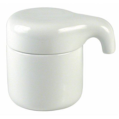 Authentics Paon Petite Boîte avec Couvercle, Accessoire de Salle de Bains, Porcelaine, Blanc, 20008
