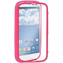 kwmobile Funda para Samsung Galaxy S3 / S3 Neo - Case completa de TPU y cuero sintético - Cover protector Full Body en rosa fucsia