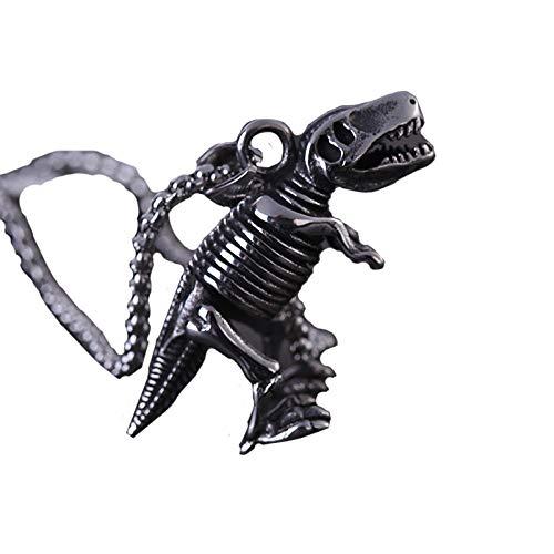 etten Für Herren,Europa Und Die Vereinigten Staaten Titan Stahl Dreidimensionale Dinosaurier Ornamente Anhänger Edelstahl Herren Halskette Schmuck ()