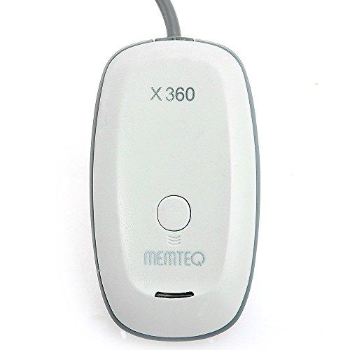 XBOX 360 Wireless Adapter - MEMTEQ Wireless Receiver für XBOX 360 Controller Kompatibel mit Windows XP / Vista / 7 / 8 / 10 Weiß (Die Zuordnung Board)