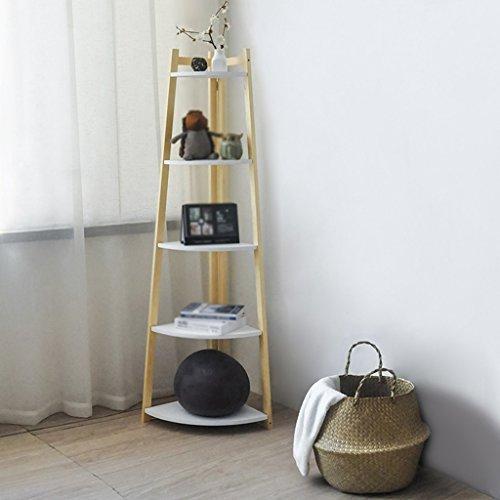 HWF Eckregal Lagerregal Ausstellungsstand Bücherregal Flower Stand Floorstanding Schlafzimmer Wohnzimmer Massivholz ( Farbe : D ) ('d-bücherregal)