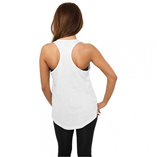 Urban Classics Ladies Tanktop Long Loose Racerback TB710 White