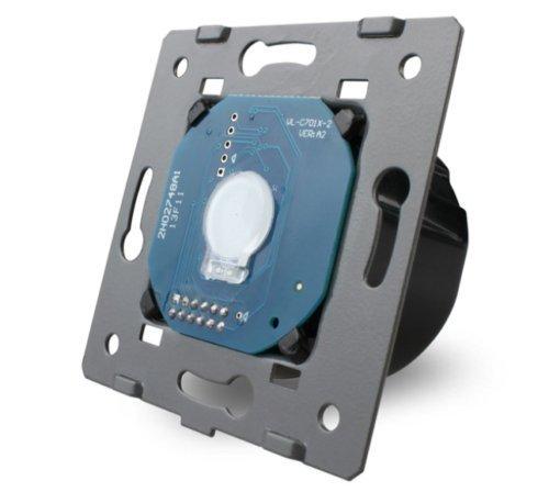LIVOLO Glas Touch Lichtschalter Funkschalter Steckdosen Wechselschalter uvm in grau (Modul: Kreuzschalter VL-C701S)