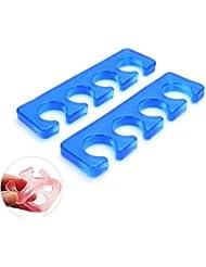 Welecom 1paire en silicone souple doigt séparateur d'orteil Manucure Pédicure Outil Nail Art Outil