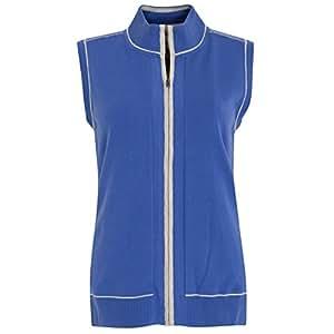 Full Zip Lined Sleeveless Sweater