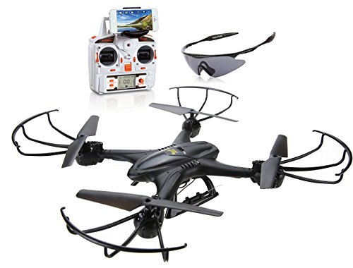 FPV Drohne,DeeRC RC Quadrocopter mit Deathly mad-skinned-hot Kamera 4 Convey 2.4GHz 6-Axis Gyro RTF Headless Codification