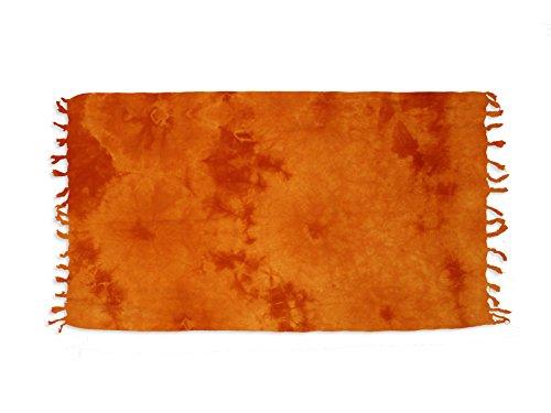 Soleil d'Ocre 401016 Tie and Dye Fouta Coton Orange 150 x 80 cm