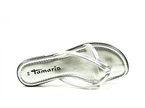 Tamaris 27107, Infradito Donna Silber