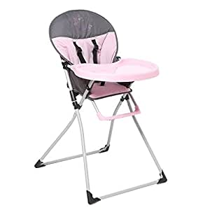 TENDRE A CROQUER Chaise Haute Mc Baby Rose