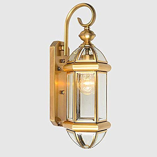 Wandleuchte Wandleuchte aus Kupfer LED im Freien wasserdicht rostfrei energiesparende Brillenglas antik beleuchtung