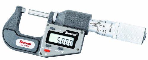 Starrett 3732MEXFL-25 Micromètre digital impérial/métrique sans sortie de données Graduation 0-25 mm 0,001 mm / 0,00005\