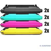 8x Eurotone Toner Cartucho para Samsung CLX 3170 3175 FW FN N sustituye CLT-P4092C Negro Azul Rojo Amarillo