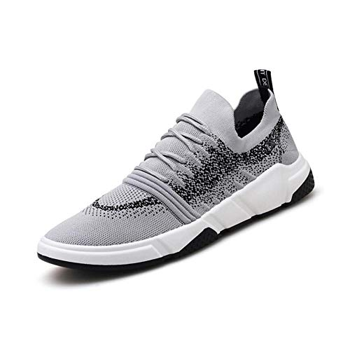 Herrenschuhe Frühling Neue Fly Woven Casual Shoes Mesh Breathable Low to Help Fashion Tide Schuhe Mens Sport Running Schuhe,A,40 -