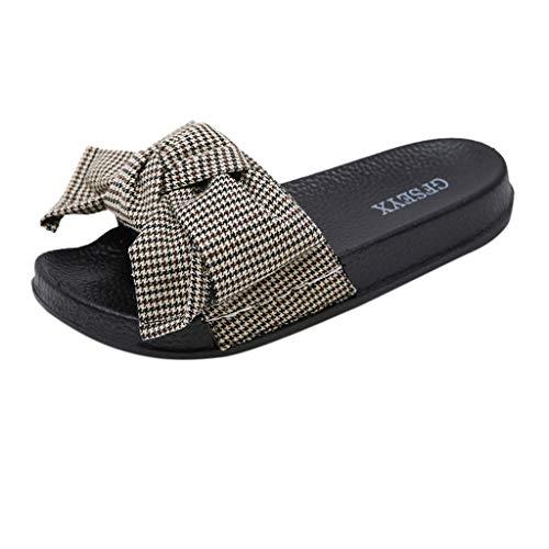 ☀NnuoeN☀ Roma Donne Estate Farfalla-Nodo Pantofola Piatto Spiaggia Pantofole Open Toe Sandali Scarpa Sandalo Donna - Ciabatta Estiva con Nodo
