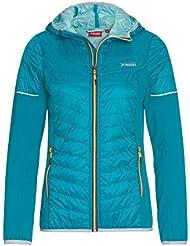 VITTORIO ROSSI Ultraleichte - Damen Hybrid Jacke - Primaloft Funktions-Jacke,Outdoor,Wandern,Kapuzen-Jacke