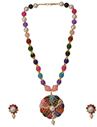 High Trendz Beautiful Traditional Designer Gold Plated Pachi Pearls Necklace Set For Women And Girls