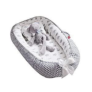 Womdee Babyliege Bett für Neugeborene, atmungsaktives Nest, tragbare Wiegeneinlage, Abnehmbarer Bezug mit super weicher Bio-Baumwolle, Neugeborene Idee zum Schlafen #1