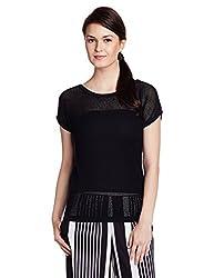 US Polo Womens Cotton Sweatshirt (UWFL0008_Black_Medium)